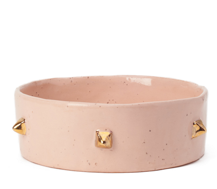Pyramid Pet Bowl - Blush & Gold - Lux Eros
