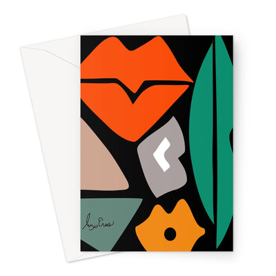 Block Kiss Cards Greeting Card