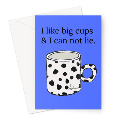 Big Cups Card Greeting Card