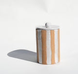 Natural Stripe Jar - Lux Eros