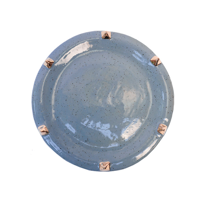 Pyramid Salad Plate - Blue Jean - Lux Eros