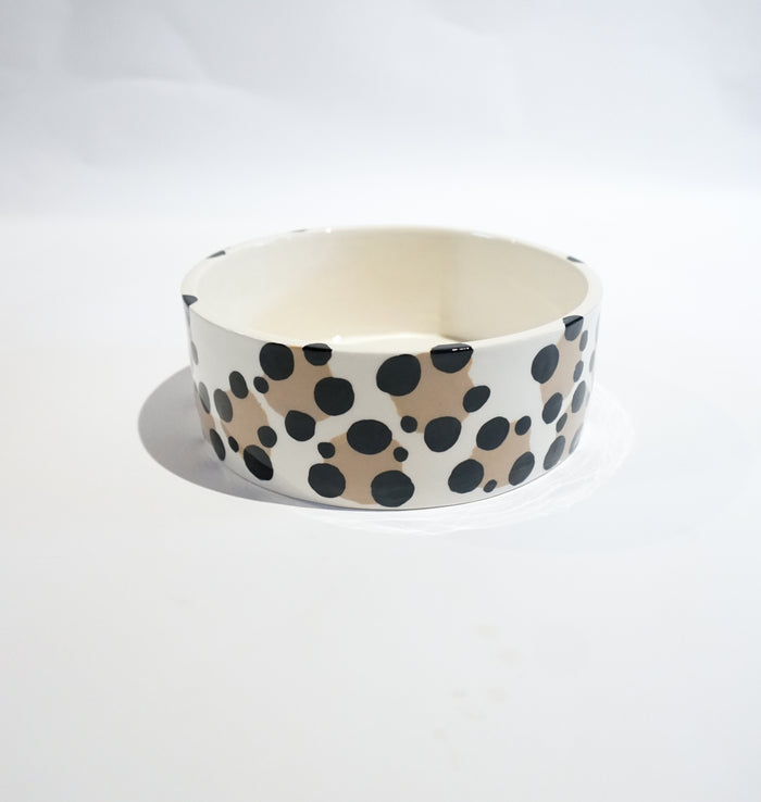 White Leopard Pet Bowl