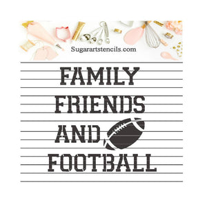 Football words family friends and football NB700167