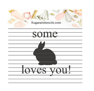 Easter some bunny loves You cookie stencil NB30098