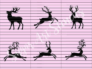 Christmas deer cookie stencils holidays winter seasonal set of 6 designs SL20184