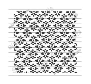 floral background cookie stencil NB22266
