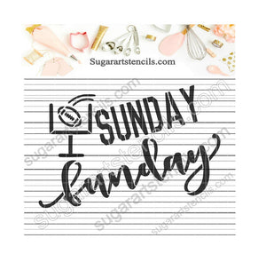 Football Sunday Funday cookie Stencil ST00191