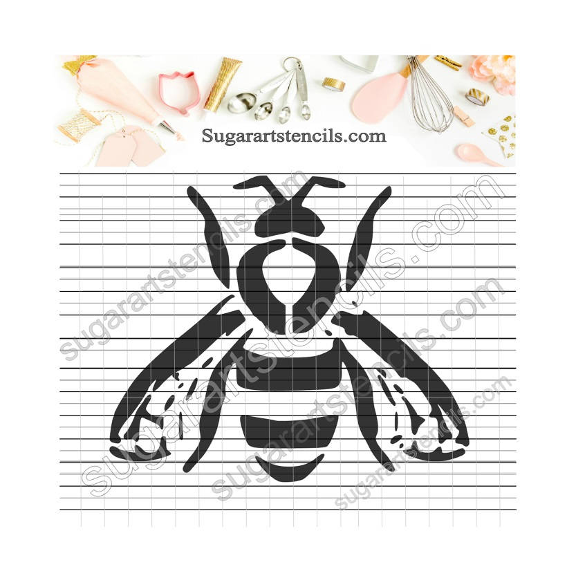 Bee cookie stencil Nb900250