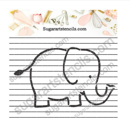 Elephant cookie stencil NB900281