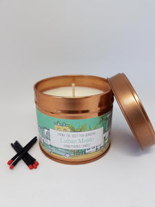 Cuban Mojito scented candle in copper tin