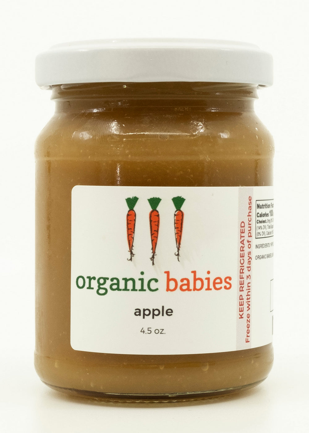 Apple Puree: 4.5oz