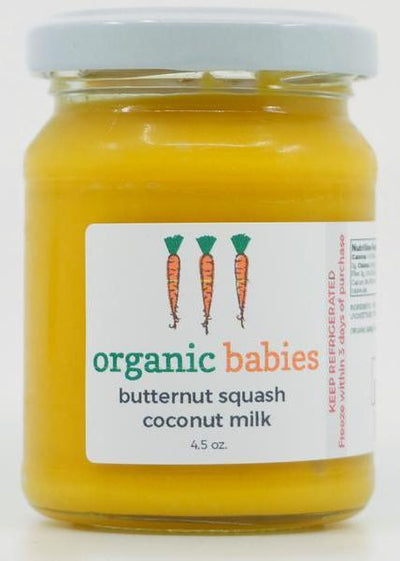 Butternut Squash & Coconut Milk Puree: 4.5oz