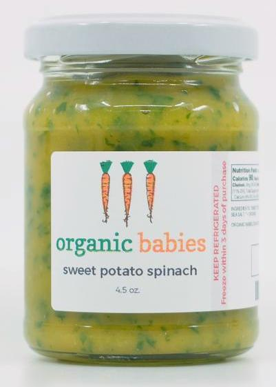 Sweet Potato & Spinach Puree: 4.5oz