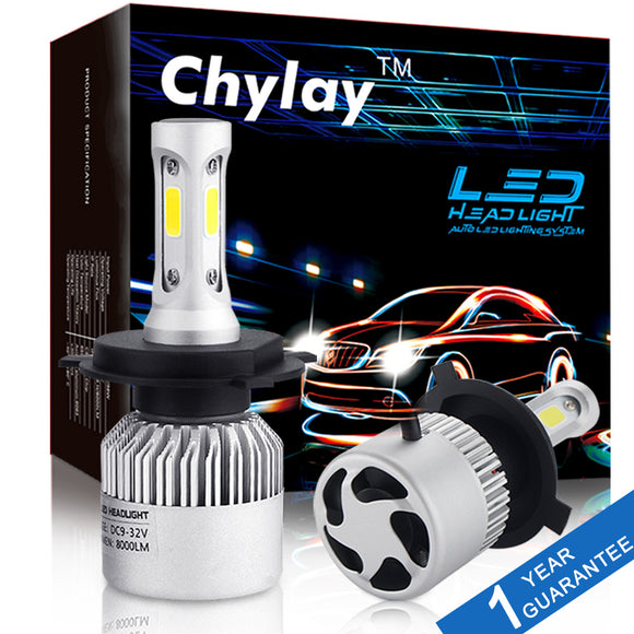 2Pcs H4 H7 H11 H1 H3 9005 9006 Car Headlight 6500K LED