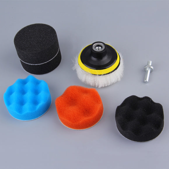 6PCS 8CM Polishing Buffing Pad Kit