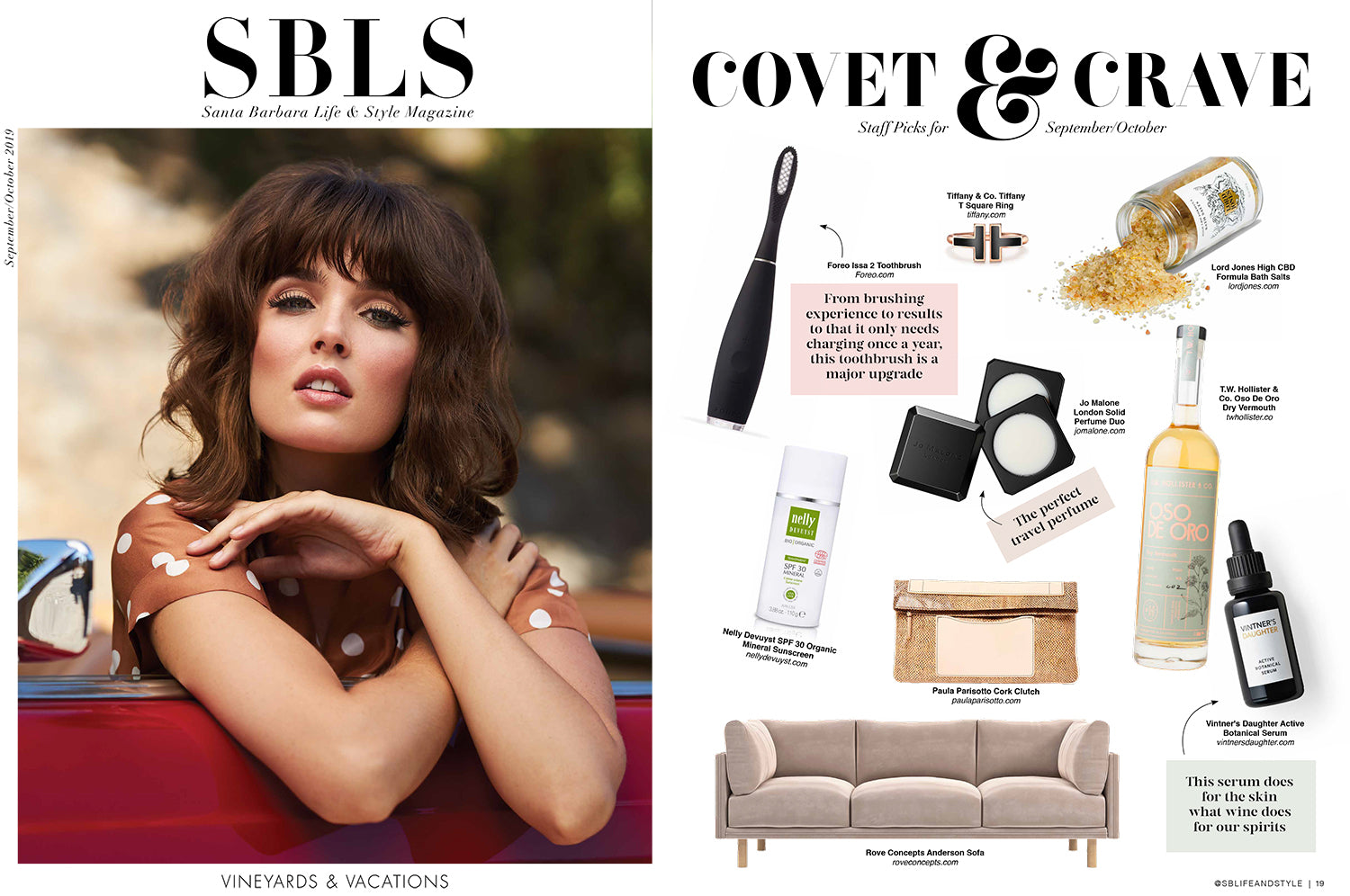 Santa Barbara Life And Style magazine with the best clutch and portfolio to buy.