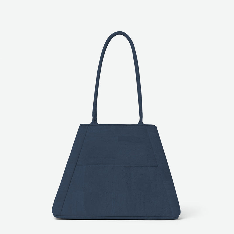 Yvonne Convertible Cork Tote - Navy Blue
