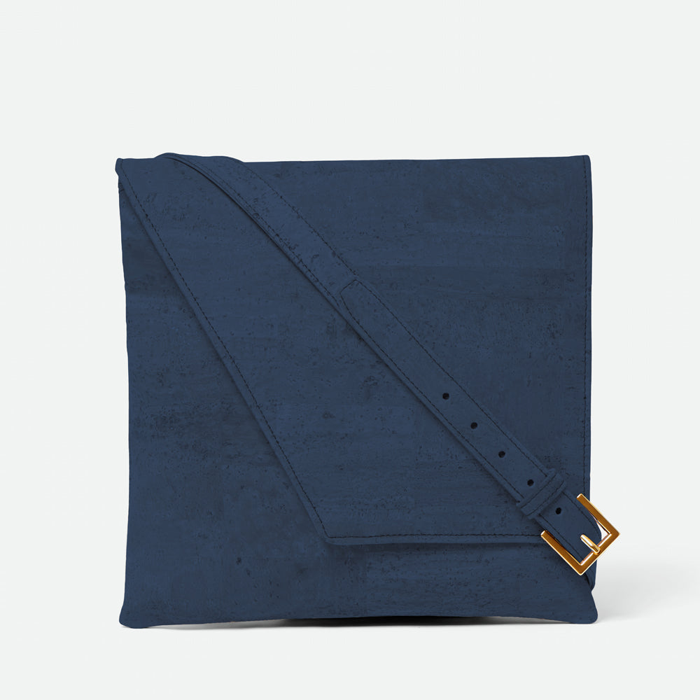 Inizio Cork Satchel - Navy Blue