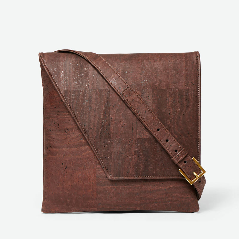Inizio Cork Satchel - Chocolate Brown