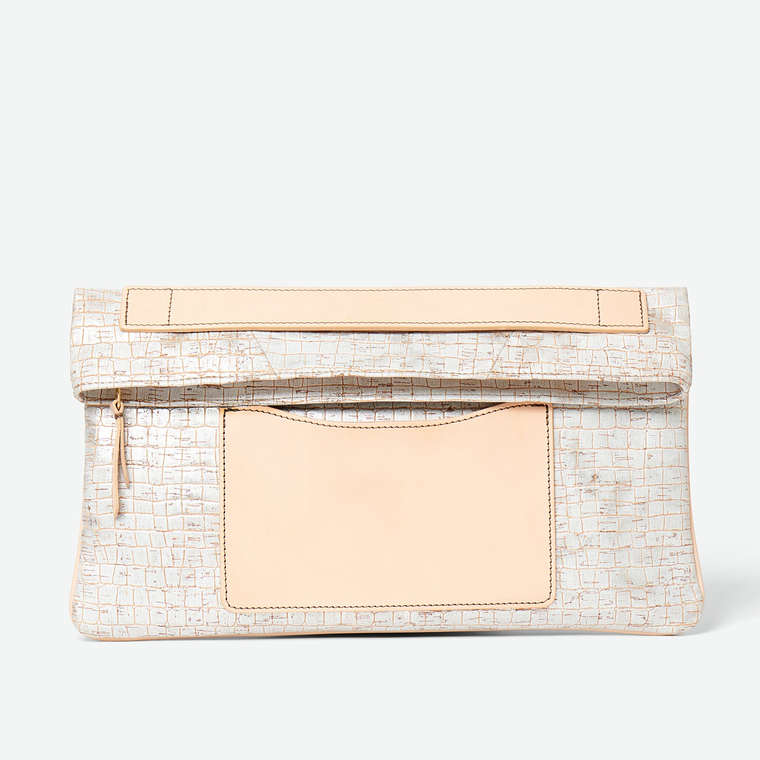 Melvia cork clutch - Paula Parisotto - Silver cork