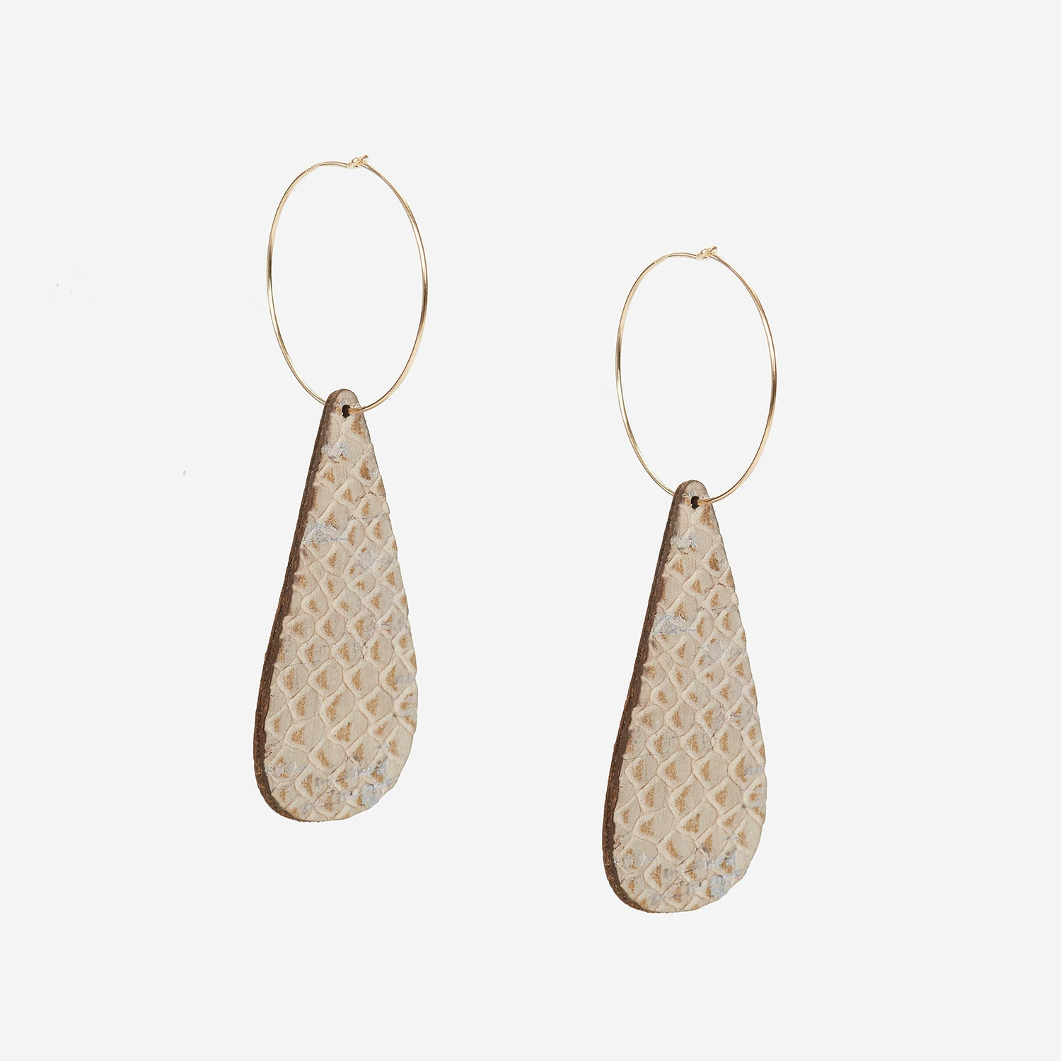 Remi Reversible Cork Earrings – Teardrop