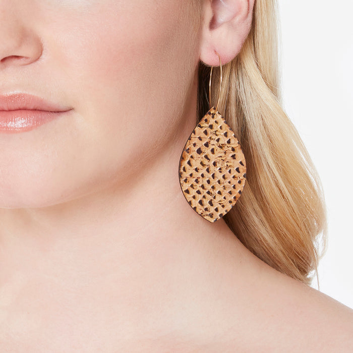 Remi Reversible Cork Earrings – Raindrop