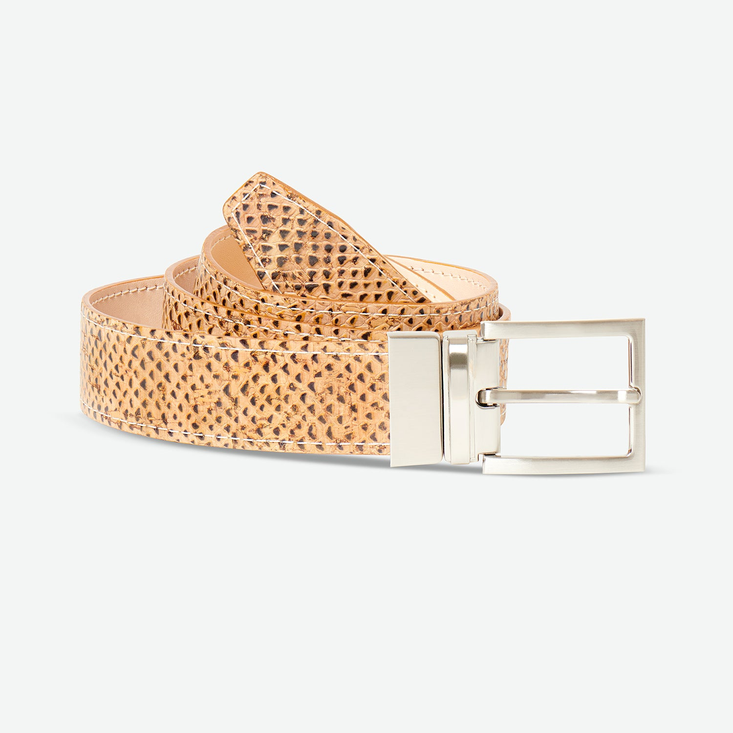Cork fabric belt