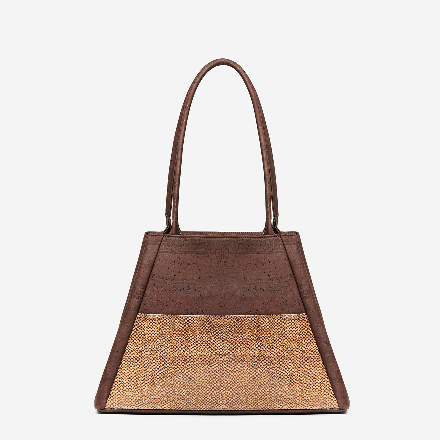Yvonne - Cork Tote Bag - Paula Parisotto - Two Tone