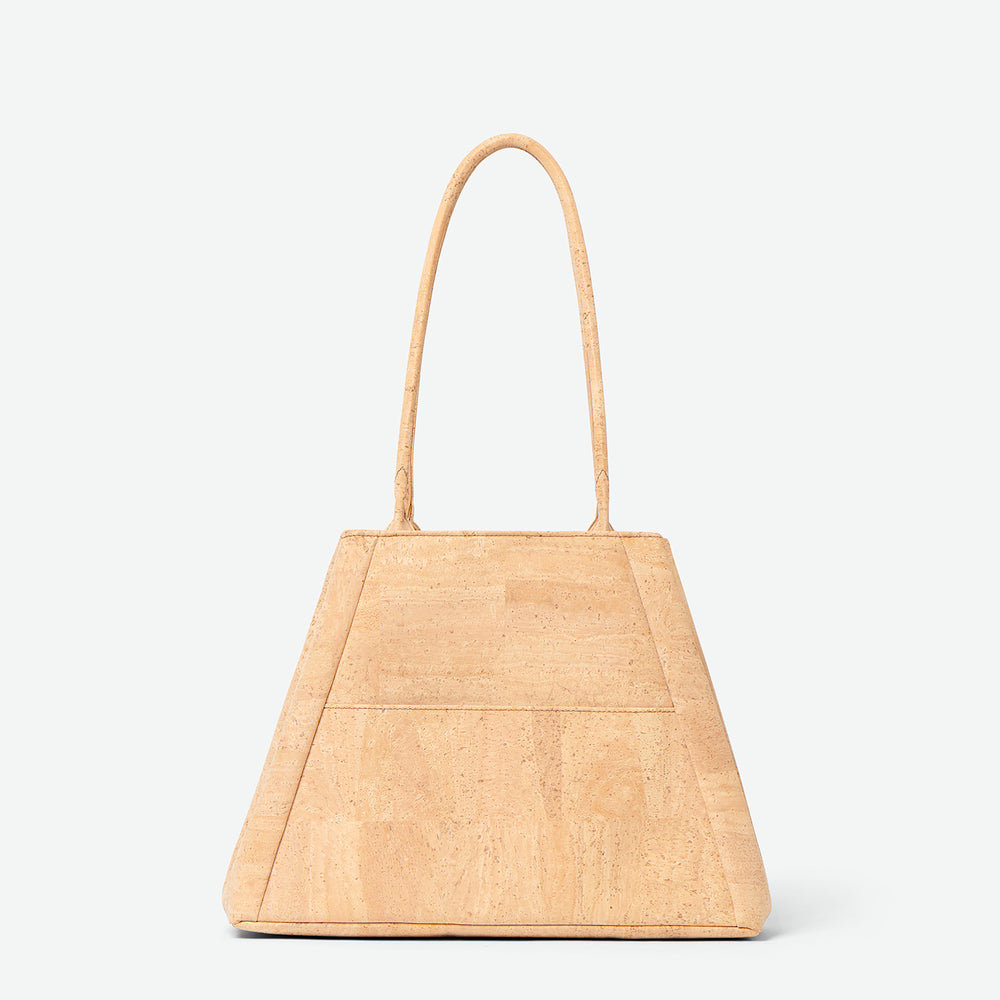 Yvonne - Cork Tote Bag - Paula Parisotto - Natural