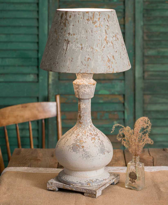 Vintage Vase Lamp with Shade