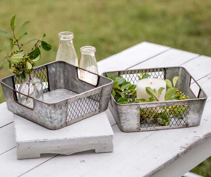 Set of Two Mesh Nesting Bins