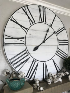 Oversized Farmhouse Wood Wall Clock