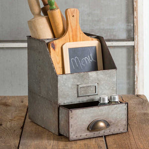 General Store Caddy with Drawer