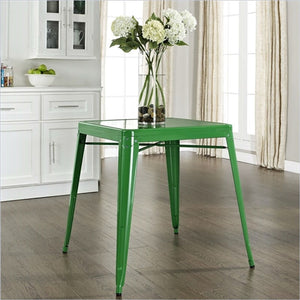 Metal Dining Table in Green