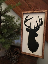 Deer Sign, Wood Deer Sign, Rustic Deer Sign, Farmhouse Decor Deer, Nursery Decor,