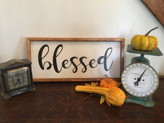 Blessed Wood Sign, Blessed Sign, Living Room Décor, Farmhouse Sign, Wood sign, Wall decor, Sign,