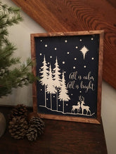 All is Calm All is Bright Wood Sign, Farmhouse Wood Sign, Rustic Wood Sign