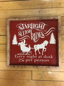 Sleigh Rides Sign, Christmas Sign, Christmas Decor, Sleigh Rides, Christmas Wood Sign, Farmhouse Wood Sign