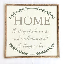 Home Sign - Home Sweet Home Sign - Farmhouse Sign Decor - Farmhouse Sign - Farmhouse Wall Decor - Family Sign - Rustic Home Decor -