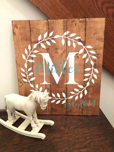 Custom Family Name Established, Wood Farmhouse Sign, Wooden Established Sign Family Name, Wood Est Name Sign, Wooden Sign