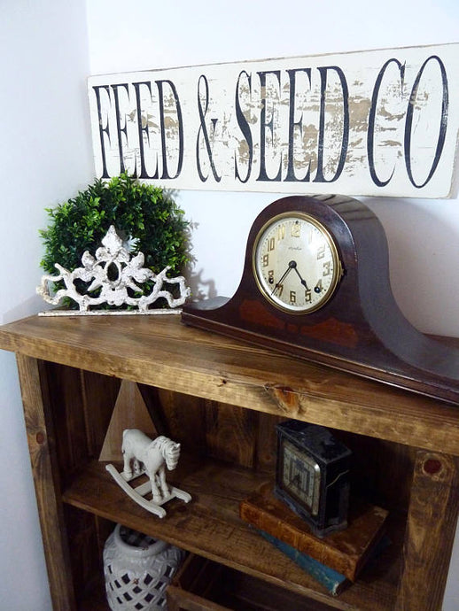 Feed & Seed Sign, Feed and Seed Co, Farmhouse Sign, Farmhouse Wall Decor, Rustic Wood Sign, Wood Kitchen Sign, Fixer Upper Sign,