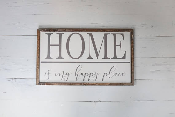 Home Sweet Home Wood Sign, Home Sweet Home Sign, Home Is My Happy Place Sign, Farmhouse Sign, Living Room Wall Decor