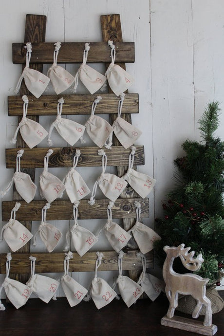 Advent Calendar, Wood Advent Calendar, Christmas Countdown, Kids Christmas Calendar, Farmhouse Kids Advent Calendar, Farmhouse Christmas,