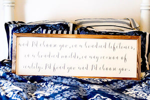 Bedroom Wall Décor, Master Bedroom Wall Décor, I'd Choose You Sign, Id Choose You Wood Sign, Farmhouse Sign, Wedding Sign, Love Sign,
