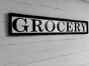 Grocery Sign, Farmhouse Sign, Kitchen Sign, Wood Sign, Rustic Kitchen Sign