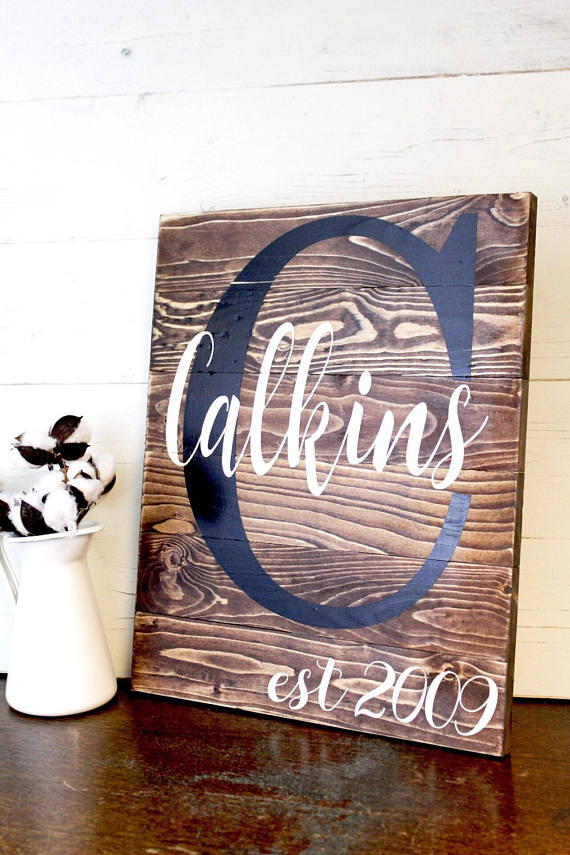 Pallet Name Sign - Custom Name Sign - Family Established Sign - Rustic Family Name Sign - Family Initial Sign - Personalized Family Sign