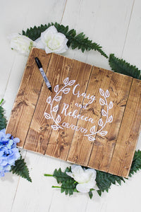 Wedding Guest Book - Guest Book - Wedding Guestbook - Wedding - Wedding Gift - Rustic Wedding Decor - Personalized Wedding - Wood Guestbook