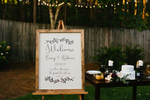 Rustic Wedding Sign – Welcome Wedding Sign – Custom Wedding Sign – Wedding Welcome Sign – Wooden Wedding Sign – Personalized wedding sign