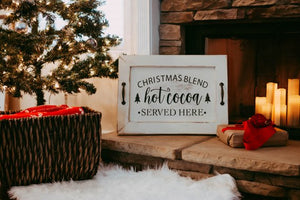 Hot Chocolate Bar, Hot Cocoa Sign, Wooden Serving Tray, Christmas Decorations, Christmas Decor, TV Trays, Serving Tray, Hot Chocolate Sign