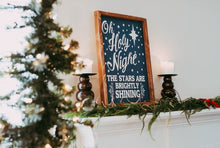 Oh Holy Night Sign, Christmas Sign, Wood Christmas Sign, Farmhouse Wood Sign, Rustic Christmas Sign, Oh Holy Night Wood
